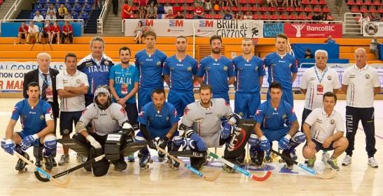 Selección Italiana que el año pasado se adjudicó el título de Europa, en la cita realizada en la ciudad española de Alcobendas.