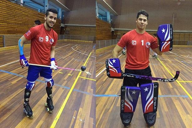 Los muchachos de la Selección lucieron sus nuevas indumentarias, a dos semanas del debut en Francia. (Crédito foto: facebook Hockey Patín Chile)