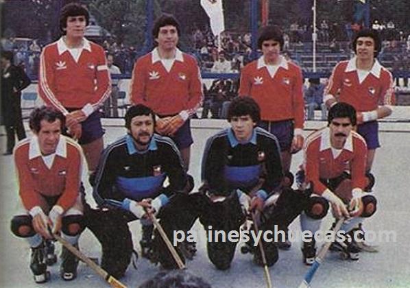 El legendario equipo de 1980. Arriba, de izq a der: Arturo Salvatierra, Eduardo Tapia, René Muñoz y Osvaldo Rodríguez B. Abajo: Sandro Pifferi, Jaime Cabello, José Antonio Espinoza y Francisco Miranda.