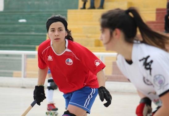 Beatriz Gaete, una de las referentes del actual plantel de Las Marcianitas. (crédito foto: mundialdehockeypatiniquique2016.org)