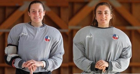 Fernanda Hidalgo y Fernanda Tapia tiene la responsabilidad de cuidar la puerta de Las Marcianitas.
