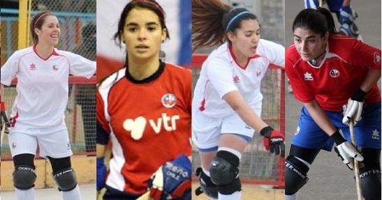 Fernanda Urrea, Francisca Puertas, Cata Flores y Francisca Donoso forman el franco ataque del representativo chileno.
