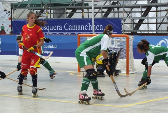 Las reservas hispanas pudieron sumar minutos en la mañana de este martes. (crédito foto: Sergio Contreras S.)