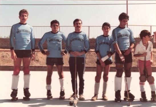 Deportivo Aviación de Iquique. Al centro, Pablo Oliva.