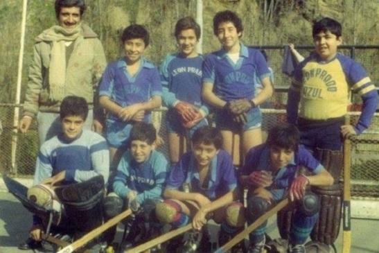 León Prado Azul, uno de los tres clubes que representó al hockey del IMLP en la década de los 80.