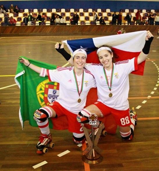 """Maca y Marlene Sousa. """"La Marlene es como mi hermana portuguesa"""" nos dice nuestra compatriota."""