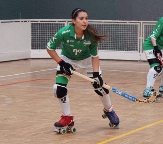 Cata Flores ya lleva cinco goles con la camiseta del Liceo, en la presente temporada de la OK Liga Femenina.