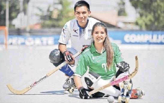 Nicolás y Catalina Flores ahora coincidirán en HC Liceo La Coruña. (crédito foto: diario La Hora)